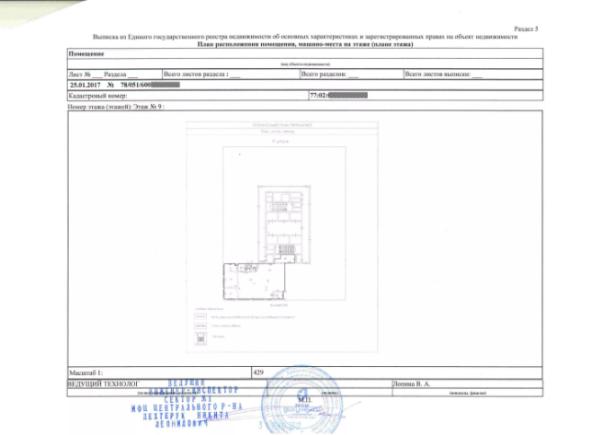 Выписка из ЕГРН для налоговой с планом квартиры
